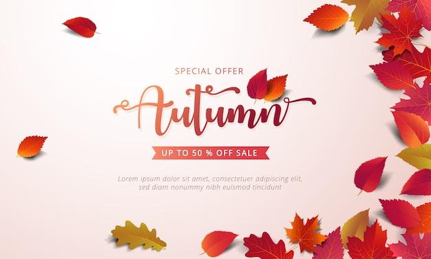 Modèle de disposition bannière de vente automne