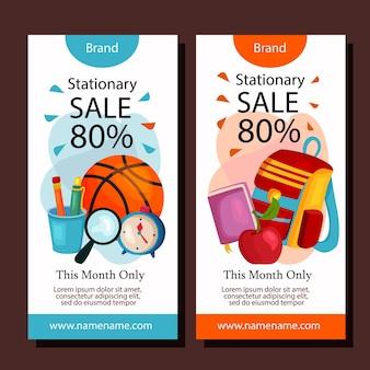 Modèle de disposition de bannière verticale de vente stationnaire