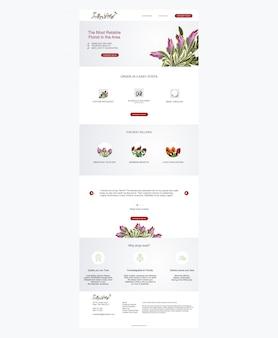 Modèle de disposition de conception de site web