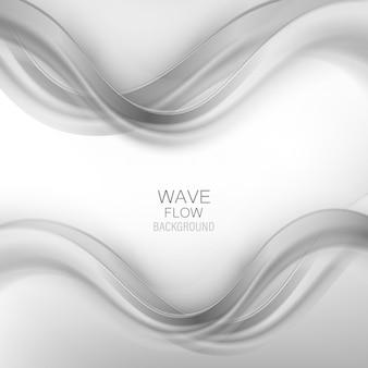 Modèle de disposition de fumée abstraite swoosh wave. flux d'ondes grises