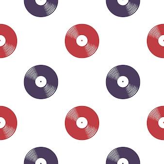 Modèle de disques vinyle, illustration musicale. couverture créative et luxueuse