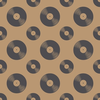 Modèle de disques vinyle, musique de fond. illustration de style rétro et luxe