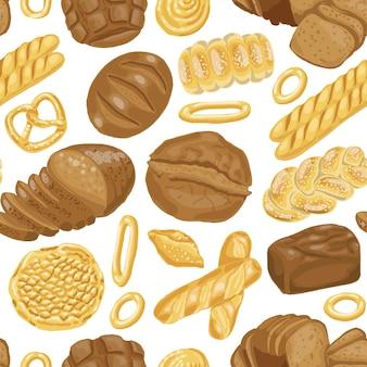 Modèle avec divers produits de boulangerie