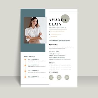 Modèle de document de candidature avec photo