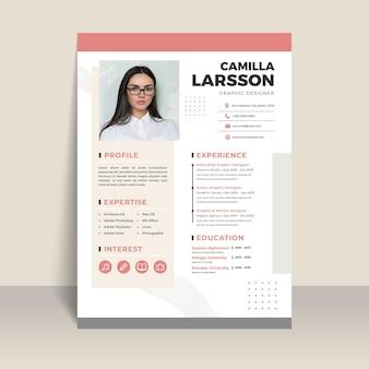 Modèle de document de demandeur d'emploi avec photo