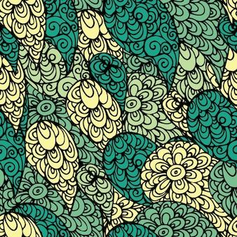Modèle de doodle abstrait sans soudure