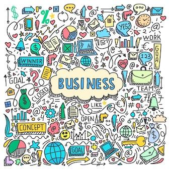 Modèle de doodle d'affaires