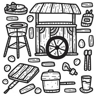 Modèle de doodle wagon