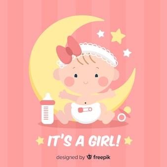 Modèle de douche de bébé pour fille