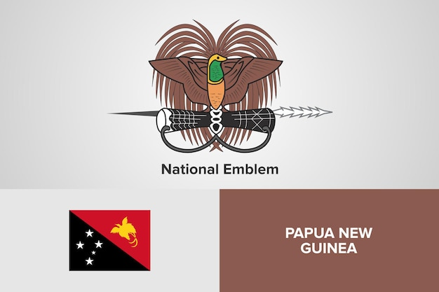 Modèle de drapeau d'emblème national de papouasie-nouvelle-guinée