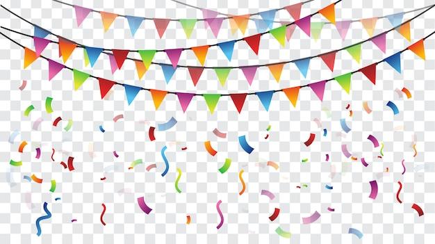 Modèle de drapeau de fête colorée de célébration