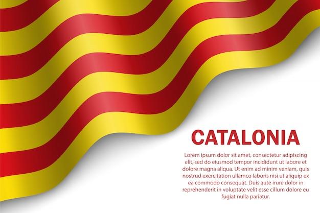 Modèle de drapeau ondulant de la catalogne