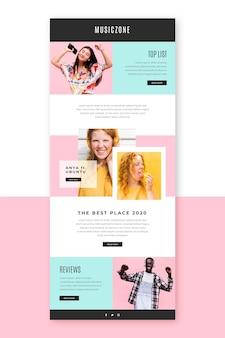 Modèle d'e-mail blogger avec photos