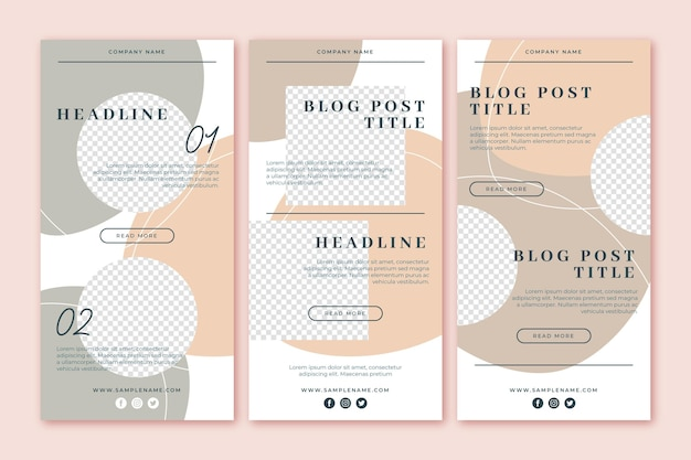 Modèle d'e-mail blogger