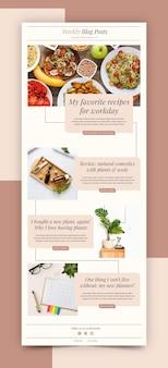 Modèle d'e-mail de blogueur créatif