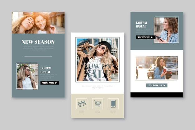 Modèle d'e-mail de commerce électronique avec photos