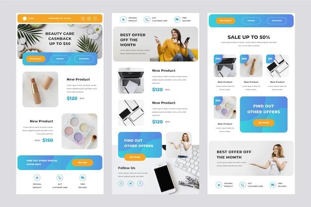 Modèle d'e-mail de commerce électronique