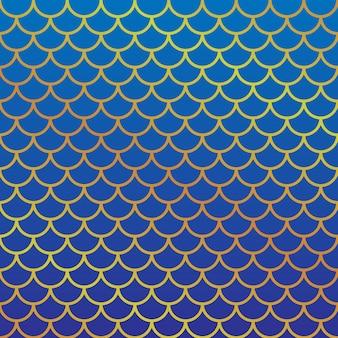Modèle d'écaille de poisson fille. illustration vectorielle