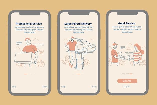 Modèle d'écran intégré des services de livraison