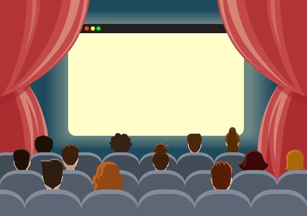 Modèle d'écran vide de cinéma en ligne regarder le cinéma