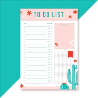 Modèle éditorial de liste à faire