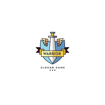 Modèle éditorial de logo de jeu