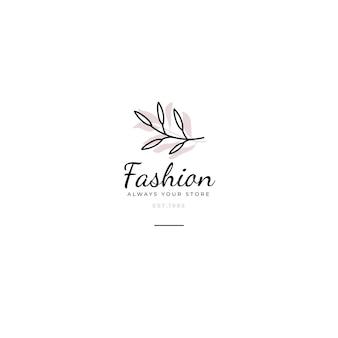 Modèle éditorial de logo de mode