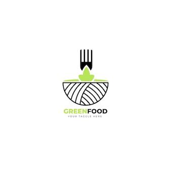 Modèle éditorial de logo de restaurant