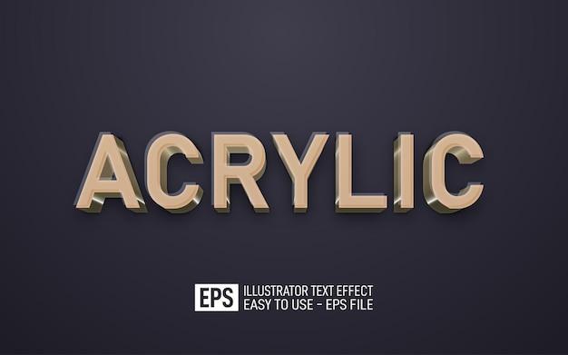 Modèle d'effet modifiable de texte 3d acrylique