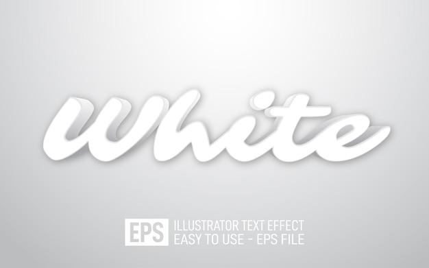 Modèle d'effet de style modifiable de texte 3d blanc