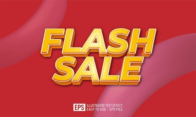 Modèle d'effet de style modifiable de texte 3d de vente flash