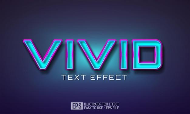 Modèle d'effet de style modifiable de texte 3d vif
