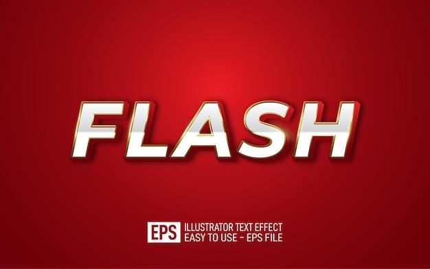 Modèle d'effet de style modifiable de texte flash 3d