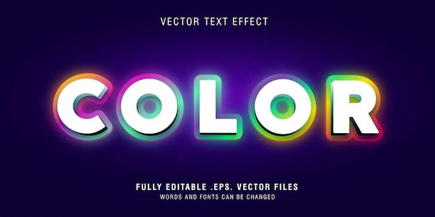Modèle d'effet de style de texte couleur