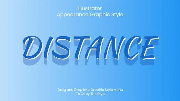 Modèle d'effet de style de texte de distance