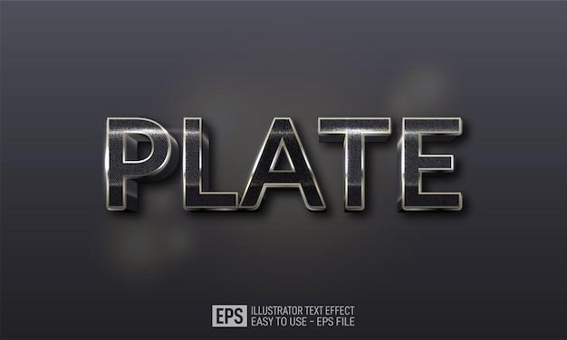 Modèle d'effet de style de texte de plaque