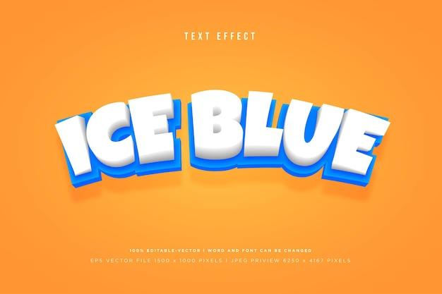 Modèle d'effet de texte 3d bleu glacier