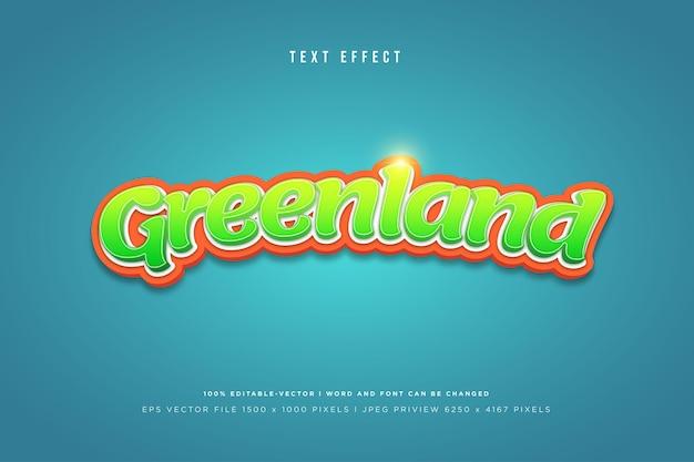 Modèle d'effet de texte 3d du groenland