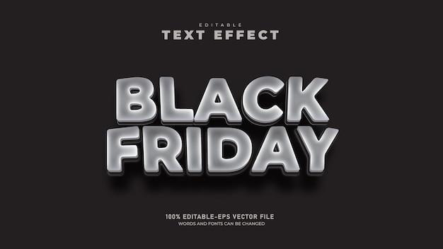 Modèle d'effet de texte 3d modifiable black friday