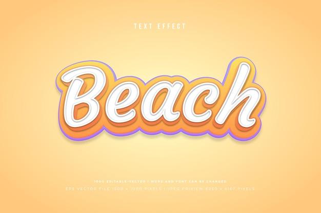 Modèle d'effet de texte 3d de plage