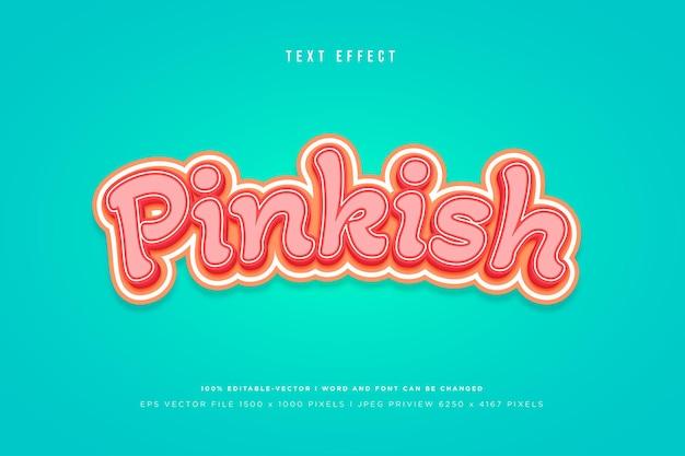 Modèle d'effet de texte 3d rosâtre
