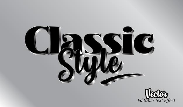 Modèle d'effet de texte 3d de style classique modifiable