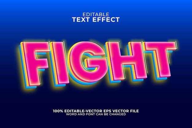 Modèle d'effet de texte de combat