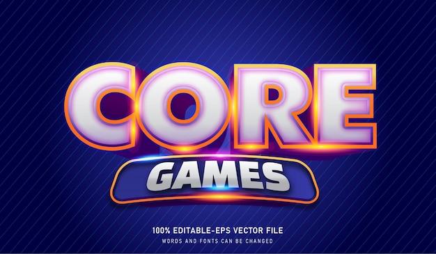 Modèle d'effet de texte core games
