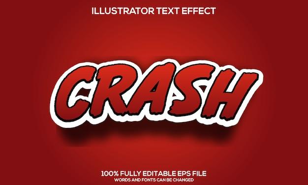 Modèle d'effet de texte de crash