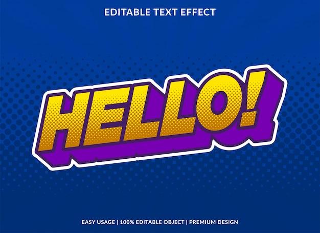 Modèle d'effet de texte de dessin animé avec un style bande dessinée gras en 3d