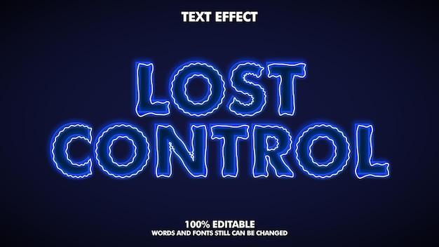 Modèle d'effet de texte électrique moderne