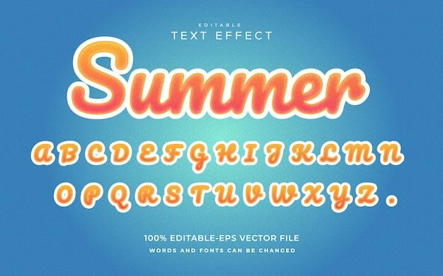 Modèle d'effet de texte d'été