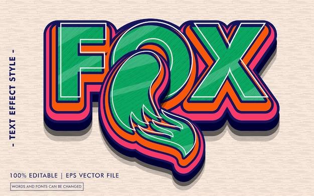 Modèle d'effet de texte fox