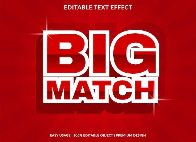 Modèle d'effet de texte grand match